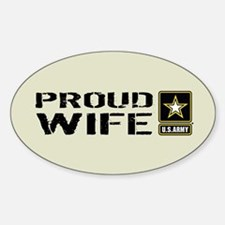 U.S. Army: Proud Wife (Sand) Decal