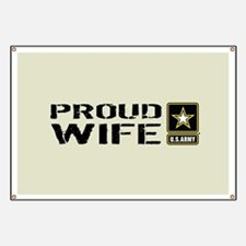 U.S. Army: Proud Wife (Sand) Banner