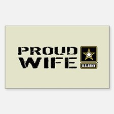 U.S. Army: Proud Wife (S Decal