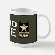 U.S. Army: Proud Wife (Military Green) Mug