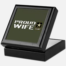 U.S. Army: Proud Wife (Military Green Keepsake Box