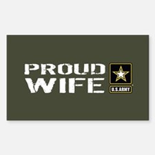 U.S. Army: Proud Wife (M Decal