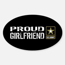 U.S. Army: Proud Girlfriend (Black) Decal