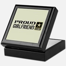 U.S. Army: Proud Girlfriend (Sand) Keepsake Box