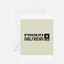 U.S. Army: Proud Girlfriend (Sand) Greeting Card
