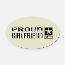 U.S. Army: Proud Girlfriend (Sand) Oval Car Magnet