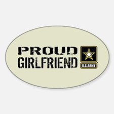 U.S. Army: Proud Girlfriend (Sand) Decal