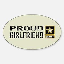 U.S. Army: Proud Girlfriend (Sand) Sticker (Oval)