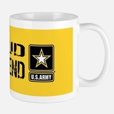 U.S. Army: Proud Girlfriend (Gold & Bla Mug