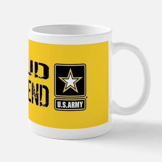 U.S. Army: Proud Girlfriend (Gold & Bla Mug