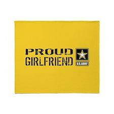 U.S. Army: Proud Girlfriend (Gold & Throw Blanket