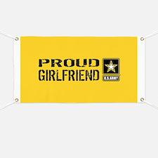 U.S. Army: Proud Girlfriend (Gold & Black) Banner