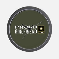 U.S. Army: Proud Girlfriend (Military G Wall Clock