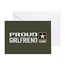 U.S. Army: Proud Girlfriend (Militar Greeting Card