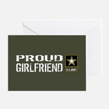 U.S. Army: Proud Girlfriend (Militar Greeting Card