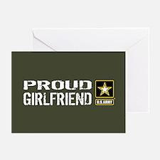 U.S. Army: Proud Girlfri Greeting Cards (Pk of 10)