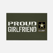 U.S. Army: Proud Girlfriend (Mili Rectangle Magnet