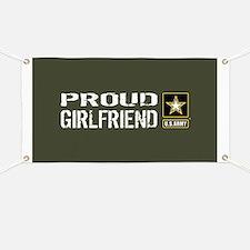 U.S. Army: Proud Girlfriend (Military Green Banner