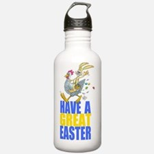 Easter Bunny riding a Water Bottle