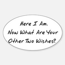 Three Wishes Oval Decal