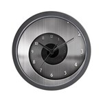 Brushed Steel Spiral Wall Clock
