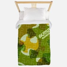 Autism Awareness Puzzles Camo Twin Duvet