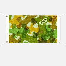 Autism Awareness Puzzles Camo Banner
