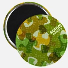 Autism Awareness Puzzles Camo Magnets