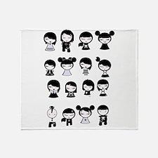 Chibi Emo Goth Throw Blanket