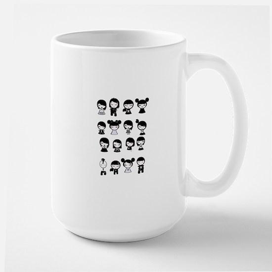 Chibi Emo Goth Mugs