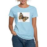 Buckeye Butterfly (Front) Women's Pink T-Shirt