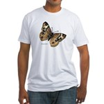 Buckeye Butterfly (Front) Fitted T-Shirt