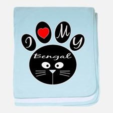 I love my Bengal baby blanket