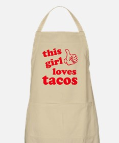 This girl loves tacos Apron