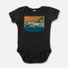 Unique Tow truck Baby Bodysuit