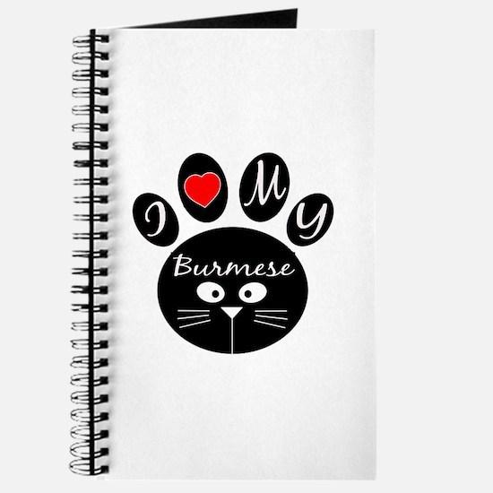 I love my Burmese Journal