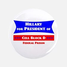 Hillary For President - Prison Button