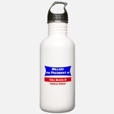 Hillary for President - Prison Water Bottle