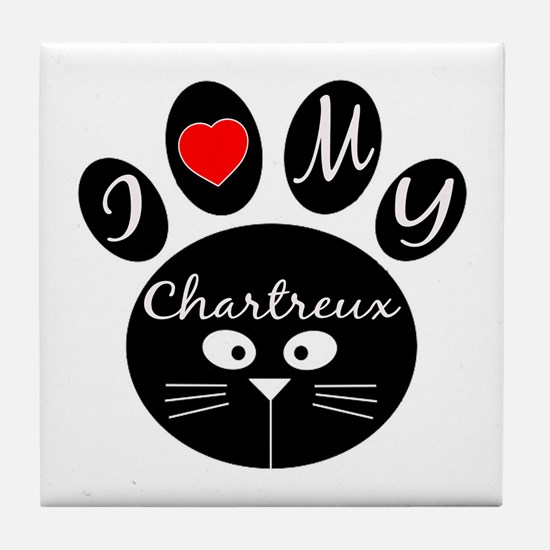 I love my Chartreux Tile Coaster