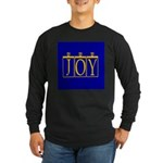 Joy Golden Blue Long Sleeve Dark T-Shirt