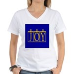 Joy Golden Blue Women's V-Neck T-Shirt