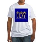 Joy Golden Blue Fitted T-Shirt
