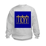 Joy Golden Blue Kids Sweatshirt