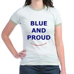 Blue and Proud Jr. Ringer T-shirt