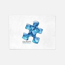 puzzle-v2-blue.png 5'x7'Area Rug