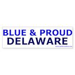 Blue and Proud: Delaware Items Bumper Sticker