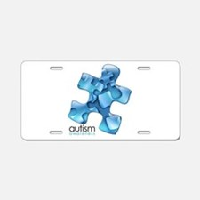 Autism Awareness Blue Puzzl Aluminum License Plate