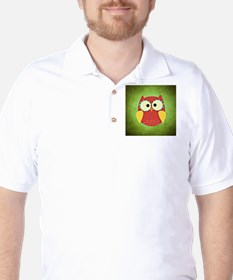 Adorable Red and Yellow Owl | Nursery T-Shirt
