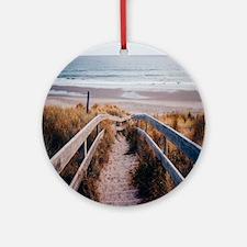 Walk To The Beach Round Ornament