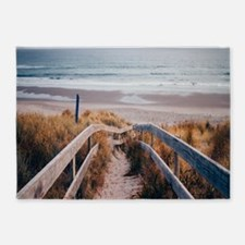 Walk To The Beach 5'x7'Area Rug